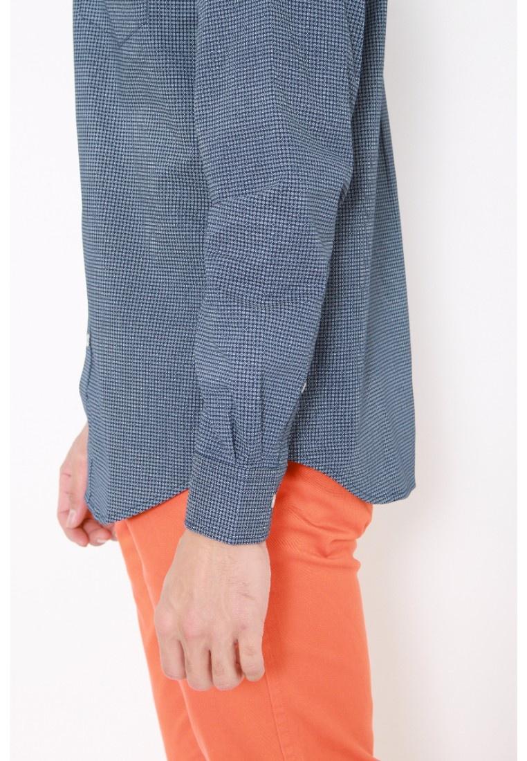 Dockers Blue Wrinkle Sleeve Long Medieval No Stretch Medieval Shirt Blue Dockers WA6fw8nqw