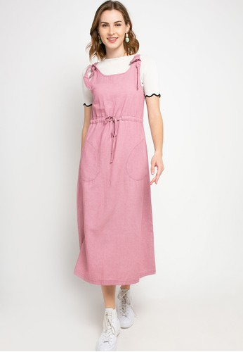 GRAPHIS pink Eyelet Overall A1728AACB89341GS_1