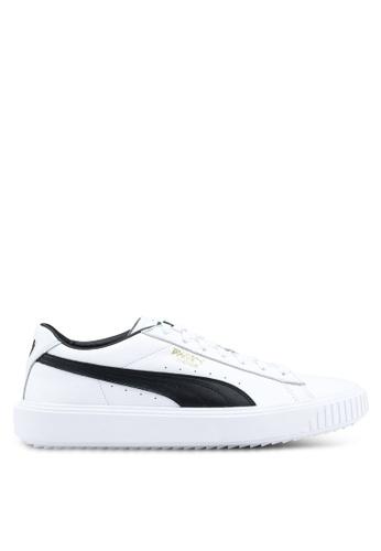 Puma white Puma Breaker Leather Shoes PU549SH0SWFFMY_1