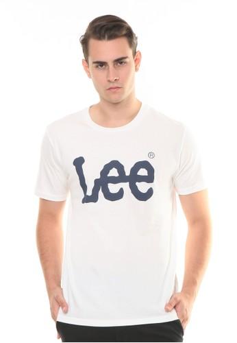 Lee white Solid Short Sleeves T-Shirt 9543BAA77D49E1GS_1