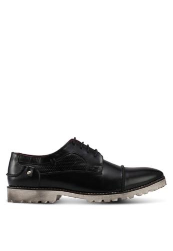 ACUTO black Leather Shoes AC283SH0SL76MY_1