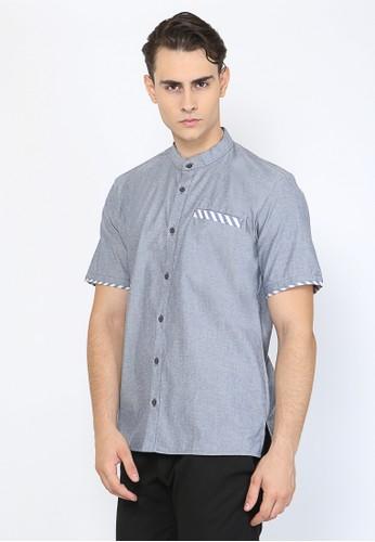 Allev blue Khalid Shirt - Biru 6576EAA2BC48B1GS_1