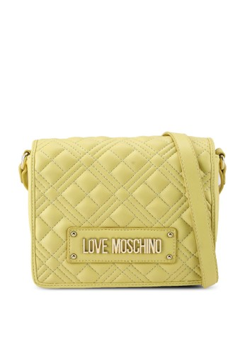 Love Moschino yellow Diamond Quilted Crossbody Bag 46BA4AC33D5AD3GS_1