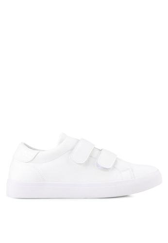 ZALORA white Double Straps Sneakers 8E5E7SHC12ACC9GS_1