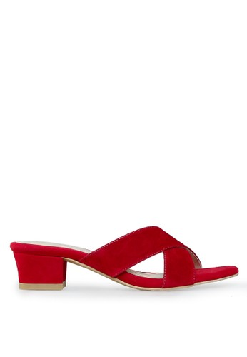 Sweat Mid Heels Red