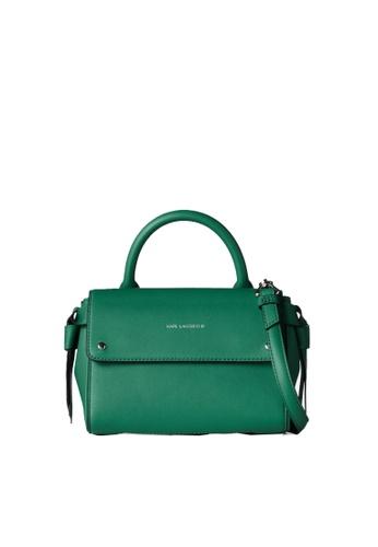 KARL LAGERFELD green K/Ikon Mini Top Handle 49901AC1F17727GS_1