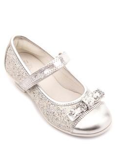 Silver Glitter Ballerina with Mini Heel
