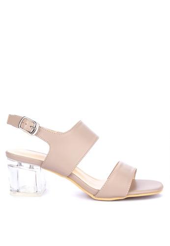 1a71163af2f Shop Rock Rose Perspex Block Heel Sandals Online on ZALORA Philippines