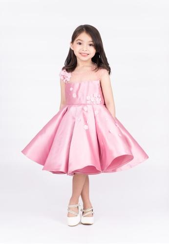 LASSIE & LADDIE pink Camelia Rosepink w/ Floral Applique Occasion Dress 049C7KA6FD5FA0GS_1