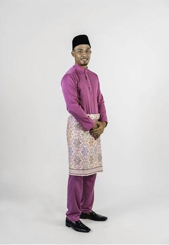 Khalifah by N pink and multi Baju Melayu Cekak Musang 2.0 Slim Fushia 0EA80AAC94847AGS_1