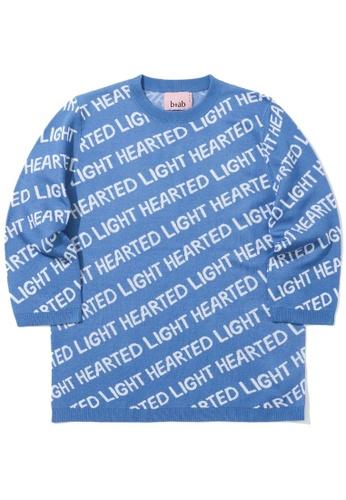 b+ab blue Light Hearted intarsia sweater 67C30AA2B6379DGS_1