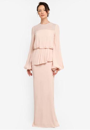 NH by NURITA HARITH pink Maureen Kurung Modern FA96CAA2F7B805GS_1