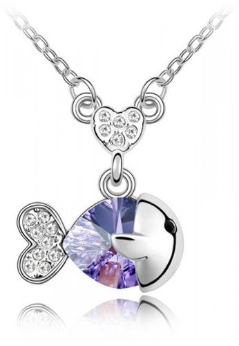 LOVENGIFTS purple Little Fish Pendant Necklace FE9D6AC04E97D6GS_1