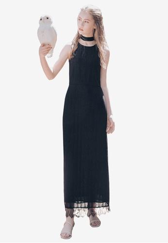 Kodz black Lacy Shift Dress BB610AA1A68365GS_1