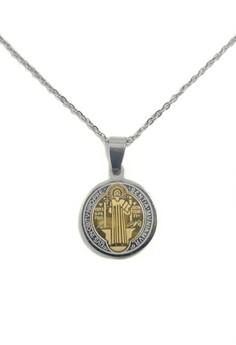 Stainless Steel St. Benedict Necklace PGR2T