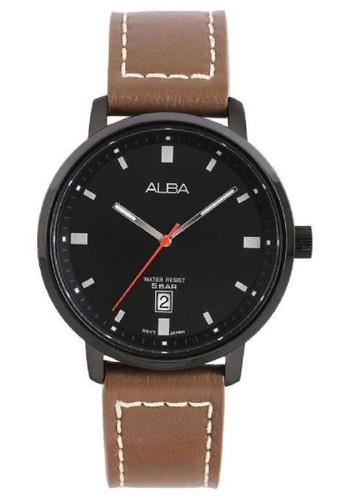 Alba black Alba Jam Tangan Pria AS9F69X1 Prestige Coklat C8489ACDD5A1E3GS_1