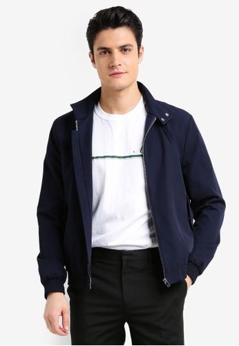 Topman blue Navy Smart Harrington Jacket E71A8AAA012634GS_1