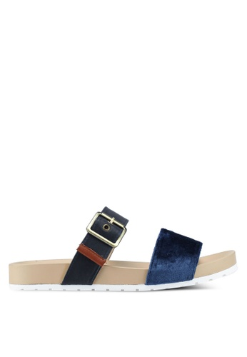 Bata 藍色 絲絨繞帶涼鞋 C37ECSHEBA3CAFGS_1