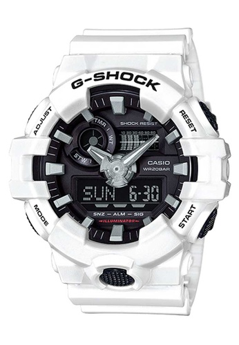 CASIO white Casio G-Shock Black and White Resin Watch 248D9ACCED2561GS_1