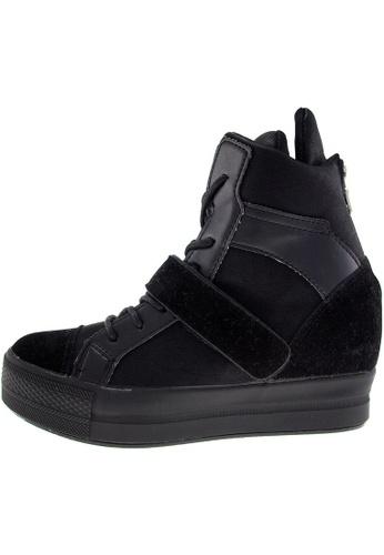 Maxstar Maxstar Women's C2 Velcro Hidden Heel Suede High Top Sneakers US Women Size MA168SH67BZSHK_1