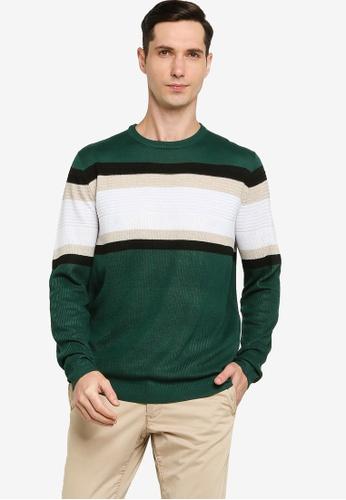 ZALORA BASICS 多色 Stripe Sweater 87004AA33AE899GS_1