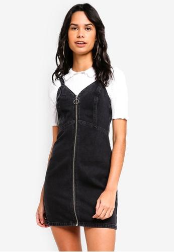 TOPSHOP 黑色 Denim Bodycon Dress 97364AA691FA5BGS_1