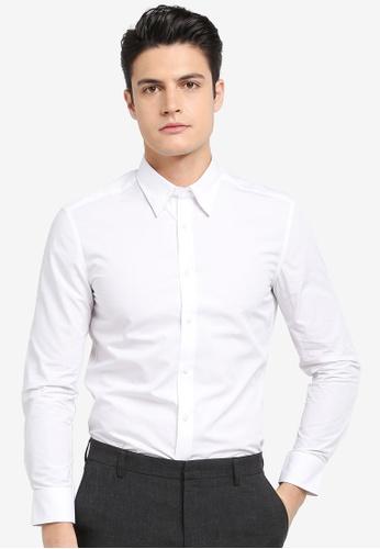 G2000 white Poplin Long Sleeve Shirt 154B6AA5250B94GS_1