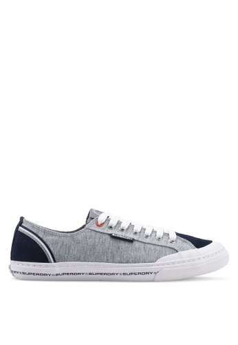Superdry grey Low Pro Retro Sneakers 94C21SHEA53692GS_1