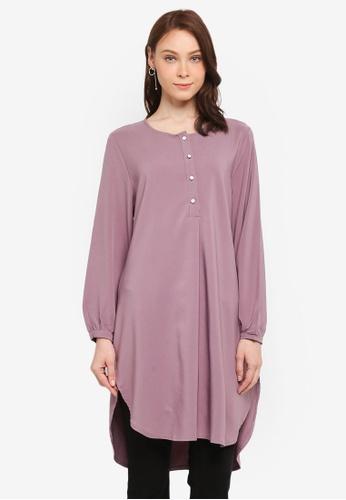 BYN purple Muslimah Blouse 011E2AAD2D34ACGS_1