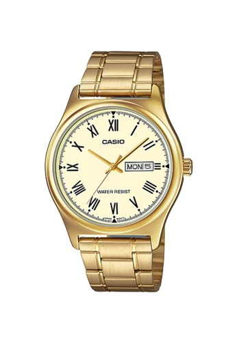 CASIO gold Casio Watch For Men MTP-V006G-9BUDF for man 8C5CDAC27E7825GS_1