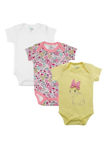 Baby 9months yellow and multi Newborn Baby Yellow Bunny Romper Set (3pcs) E82BCKA01C5AD0GS_1