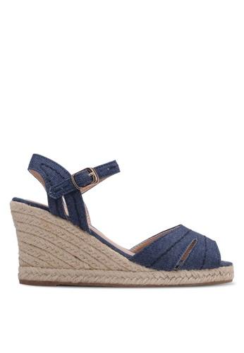 Bata blue Wedge Sandals BA156SH0RY64MY_1