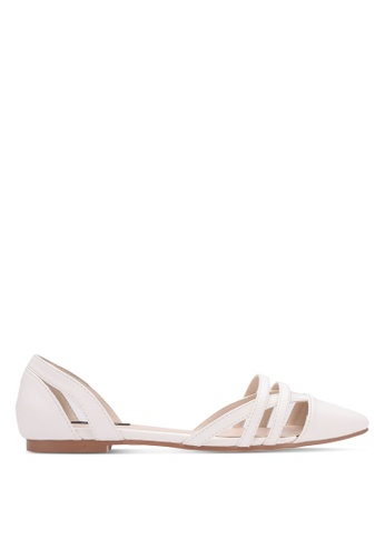 ZALORA white Cut-out Pointed Toe Flats AF4F1SHA8A510BGS_1