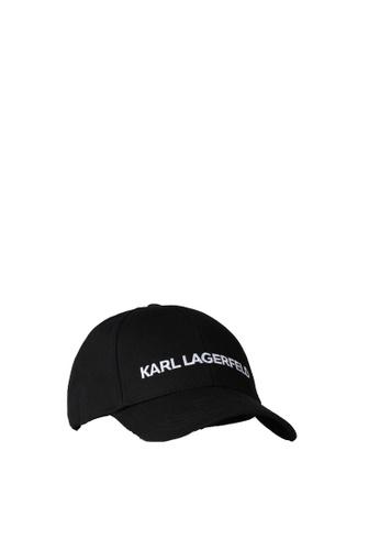 KARL LAGERFELD black Karl Essential Logo Cap 913B3AC2F9C16AGS_1