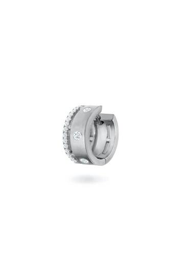 Aquae Jewels white Earring Cuff Rich & Bold 18K Gold And Diamonds - White Gold C2711ACAE867CBGS_1