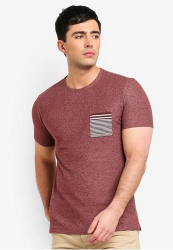 Mango Man red Contrast Chest-Pocket T-Shirt 0E151AA12F44C1GS_1
