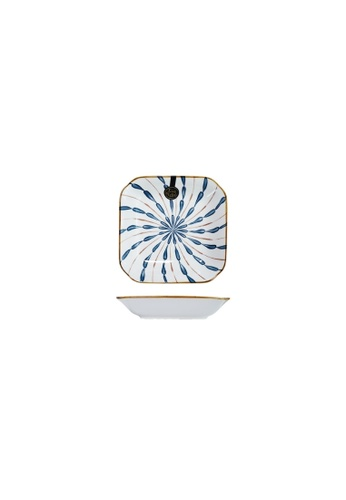 Table Matters multi Firework - 8 inch  Square Plate 707B5HL16DFDF9GS_1