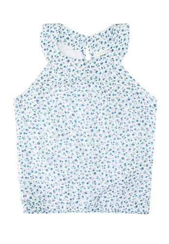 Abercrombie & Fitch white Decor Smocked Halter Top 4F107KA290EB83GS_1