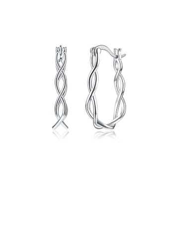 Glamorousky silver 925 Sterling Silver Simple Twisted Rope Earrings 2D8E6ACED4E491GS_1