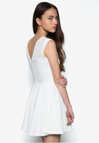 網紗褶藝連身裙, 服飾, 夏esprit 尖沙咀日洋裝