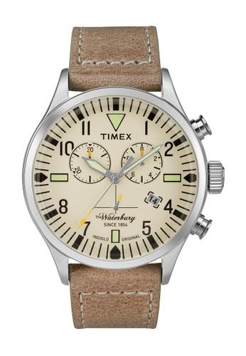 TIMEX beige Timex The Waterbury™ Chronograph - TW2P84200 TI205AC0RET5MY_1