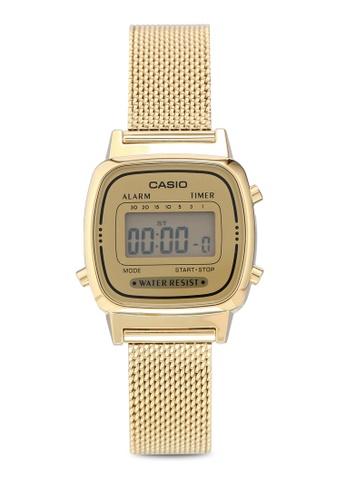 Casio 金色 Casio LA670WEMY-9DF 手錶 F53DAAC56E4A12GS_1
