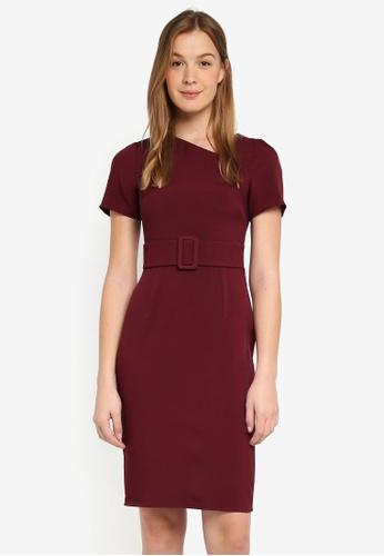 b8ddf0f9fc0 Buy Dorothy Perkins Burgundy Belted Pencil Dress