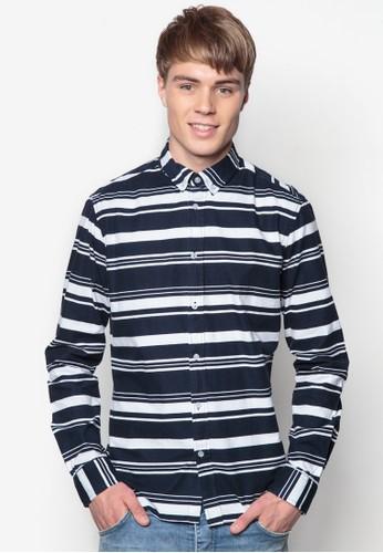 Biff 條紋長袖襯衫,esprit tw 服飾, 印花襯衫