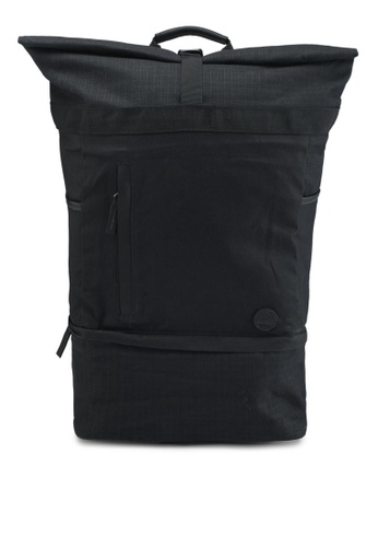 Timberland black Roll Top Backpack 096A3ACC4D7B4AGS_1