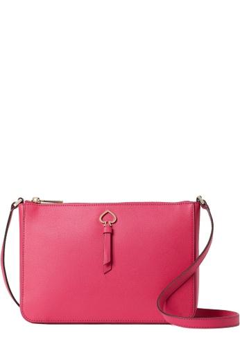 Kate Spade pink Kate Spade Adel Medium Top Zip Crossbody Bag in Bright Magenta 63CBCACE6900EAGS_1