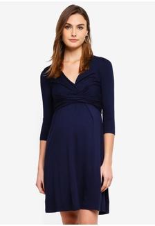 0789b80ec4807 Farrah Maternity A-Line Jersey Dress 1428AAAAFF06C4GS_1 Seraphine ...