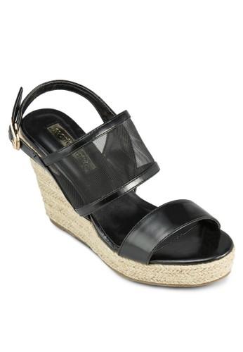 Faith 繞esprit台灣踝楔型跟涼鞋, 女鞋, 中跟