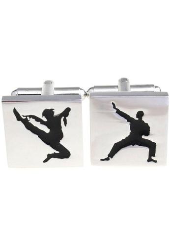 The Little Link Cufflinks black Kung Fu cufflinks TH089AC0GM10SG_1