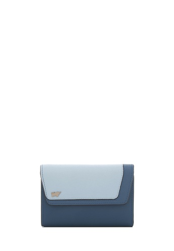 Braun Buffel blue Cheryl 3 fold centre- Flap Small Wallet With Coin Compartment in Mutli Cloud 89035ACDBF5FBEGS_1